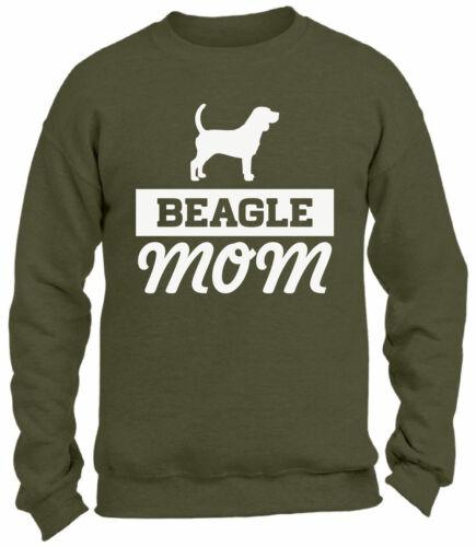 Beagle Mom Dog Lover Crewneck Sweatshirts Gift for Mom