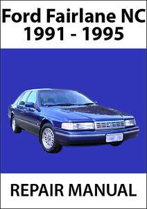 ford fairlane nc series repair manual 1991 1995 ebay rh ebay com au Cartoon Manual Service Manuals