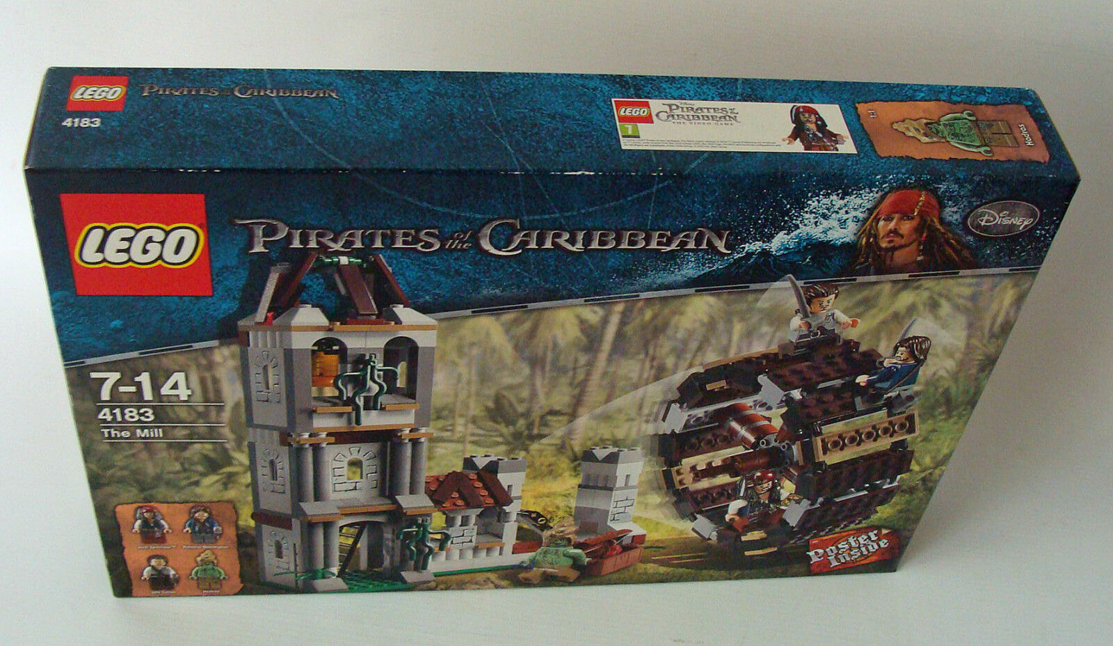 LEGO ® Pirates of the Caribbean 4183 duello nell'Mulino 365 parti 7-14 J. - NUOVO
