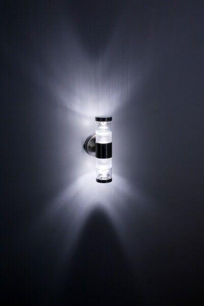 Edelstahl Wandlampe Aussenleuchte Aussenlampe LED 1701