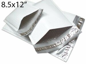 """100PCS #2 8.5x12"""" Gray Poly Bubble Padded Shipping Envelope Mailers Bag"""