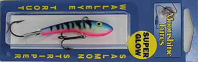 "MOONSHINE LURES SHIVER MINNOW SIZE #2 2-3/4"" 1/2 oz - ATOMIC TROUT"