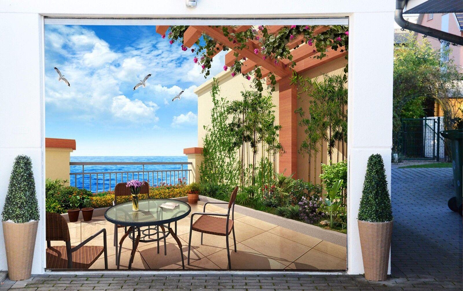 3D Seaside house Garage Door Murals Wall Print Decal Wall Deco AJ WALLPAPER UK