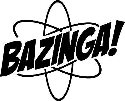 Bazinga Atom Vinyl Car Window Laptop Decal Sticker Ebay
