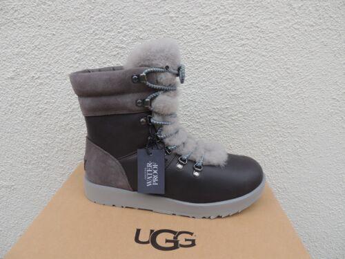 928f8d8db24 UGG VIKI METAL Leather Sheepskin Water-Proof Winter Boots, Us 8.5/ Eur 39.5  ~Nib