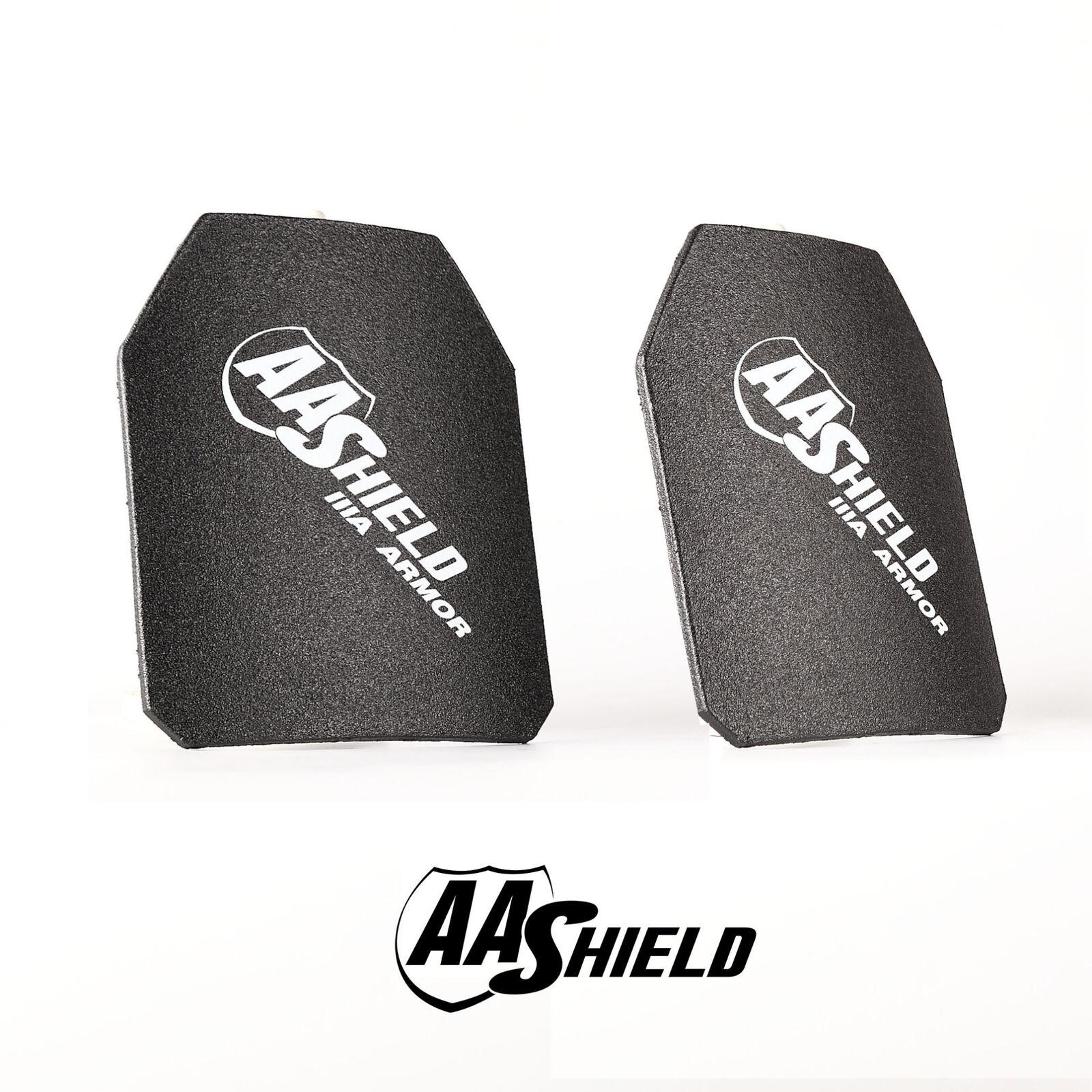 AA Shield Bulletproof Inserts Body Armor Hard Plate Lvl IIIA 3A 10x12 Cut Pair