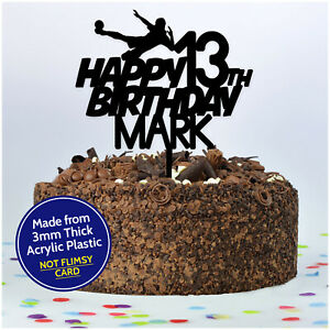 Football-Birthday-Cake-Topper-PERSONALISED-ANY-Age-Name-Football-Topper-Boys-Son