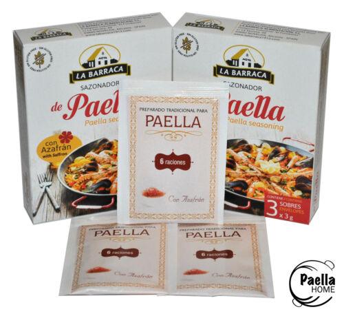 paella mezcla Paella Condimento /& azafrán X 2 especias paella 3 X 3g Sobres