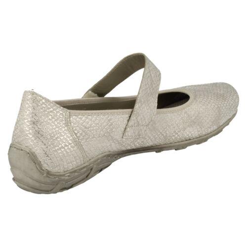 Riptape Plate Femmes Ballerine Chaussures Rieker L2062 Plat Pour Blanc wnpHxRp