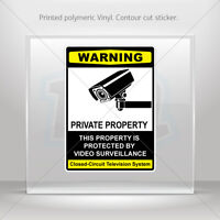 Decals Stickers This Property Is Protected By Electronic Surveilla st5 X4X24