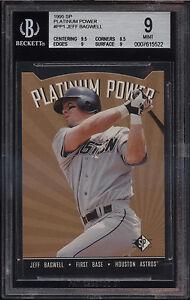1995-SP-Platinum-Power-Die-Cut-Jeff-Bagwell-Mint-BGS-9-Sub-9-5-Houston-Astros