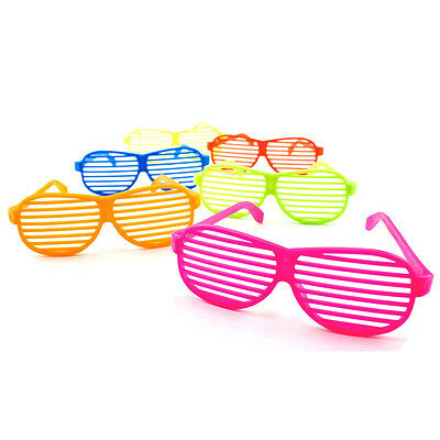 Children's Neon Slotted Frame Birthday Party Shades Kids Glasses Multi Color Lot