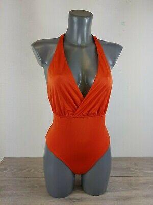 Asos Twist Back Tie Wrap Front Swimsuit Chile Orange Uk 12 Eu 40 A143-5 Einfach Zu Verwenden