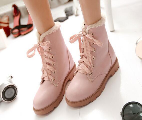 botas zapatos de mujer botas militares rosa caldi como piel cómodo 8628