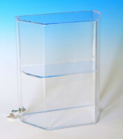 Acrylic Display Case | Display With Shelves | Locking Showcase | Countertop Case