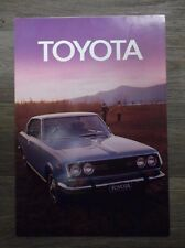 Original Vintage The Toyota Chronicle Brochure Corolla Corona Crown Land Cruiser