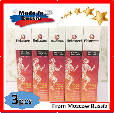 3pc FLEKOSTEEL WARMING BODY BALM for muscle joints high..