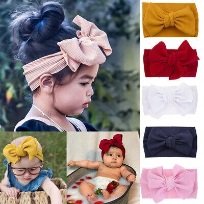 Newborn Rabbit Headband Cotton Elastic Baby Bowknot  Hair Band Girls Bow-knot