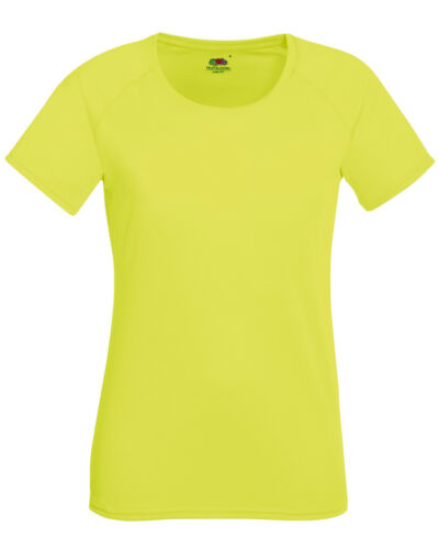 Fruit of the Loom WOMEN/'S SPORT T-SHIRT GYM RUNNING TRAINING YOGA WICKABLE FIT