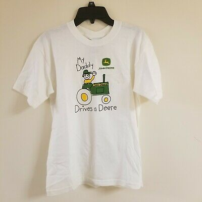 """Youth M 10-12 NWT John Deere Youth /""""My Daddy Drives A Deere/"""" Shirt Pink Size"""