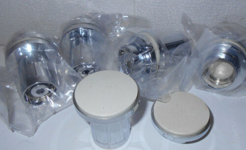 """Lot of 5 Pair ~ ~ ~ Plastic Chrome Plated Shower Rod Bracket Ends 1/"""" ID"""