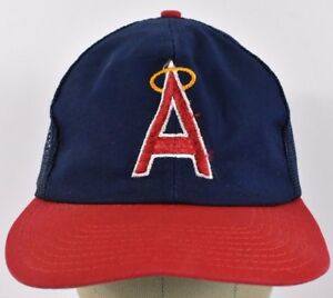 a25bfbca54c Navy Blue Los Angeles Angels Embroidered Trucker hat cap ...
