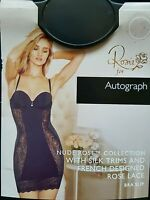 M&s Autograph rosie - Nude Rose Silk & Lace Collection Multiway Bra Slip 36a -