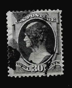 US-1870-Sc-154-30-c-BLACK-HAMILTON-Used-Sound-Perfs-Centered-Crisp-Color