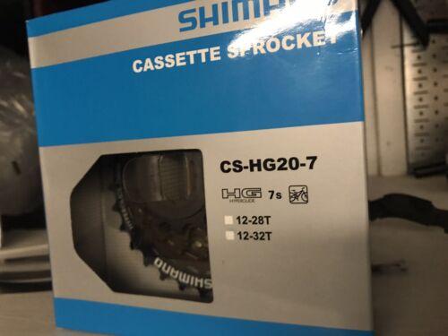 New Shimano CS-HG20-7 Speed Mountain Bike MTB Road Cassette 12-32T