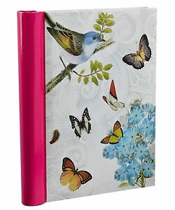 Vintage Butterfly Spiral Bound Self Adhesive Photo Albums 72 Sides - Cream BB72 6197190639562