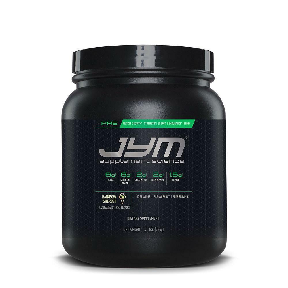 Pre JYM Supplement Science Pre Rainbow Sherbet 30 Workout Servings Pre Workout 30 Brand New f84e4e
