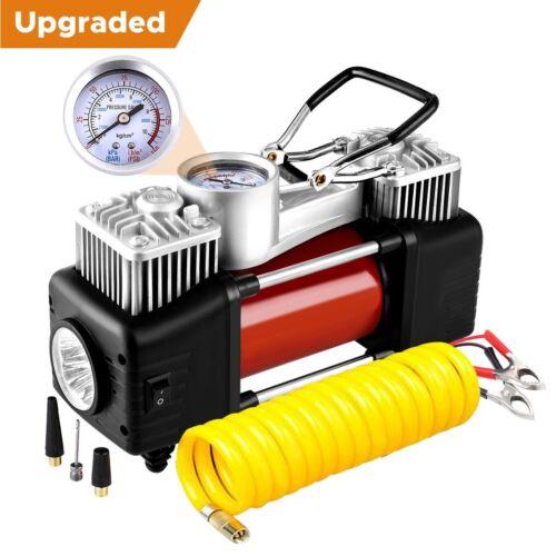 Audew Dual Cylinder Air Compressor Pump, Heavy Duty Portable Air Pump, Auto 12V