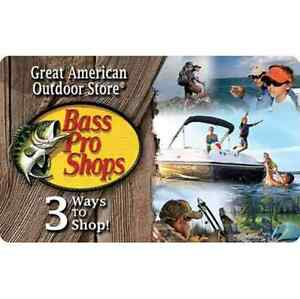 Bass Pro Shops® Gift Card - $25 $50 or $100 - Email delivery