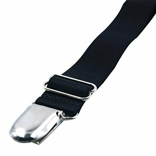 [4 Packs Elastic Adjustable Women's Boot Straps Pant Stirrups with Extra