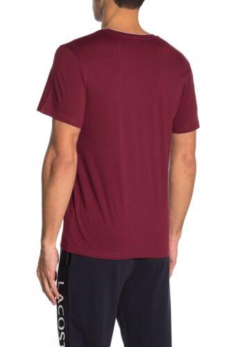 Lacoste Sleepwear Men/'s Cabernet Red Crew-Neck Short Sleeve T-Shirt