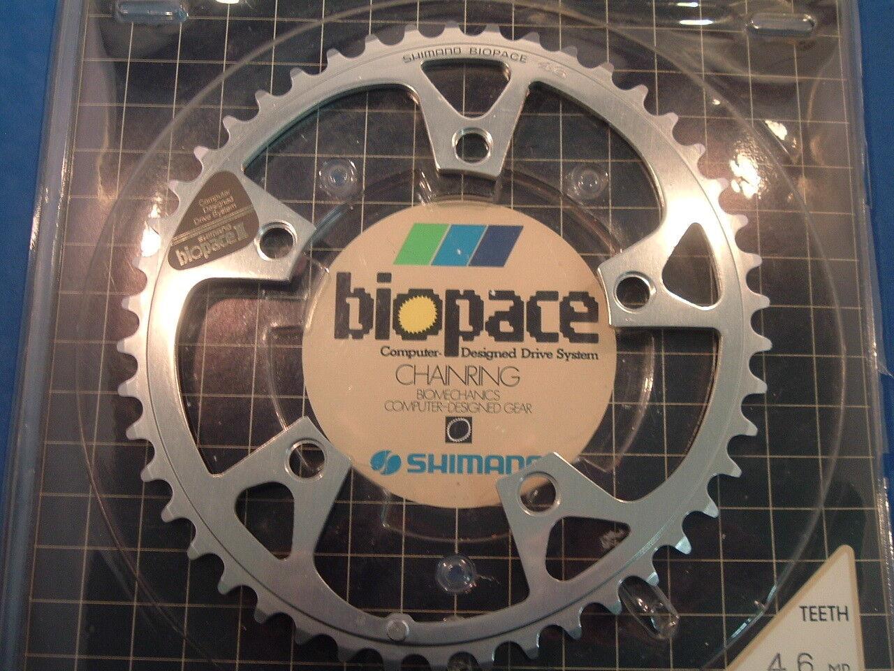 Shimano Deore XT Biopace 46Tx110BCD MTB Chainring- NEW   NOS- 5 6 7 8-Speed- NIB