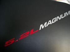 5.2L MAGNUM  - DECALS Sticker Hood Fender Tailgate emblem style logo 318 ci V8