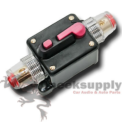 CAR STEREO AUDIO 12V CIRCUIT BREAKER FUSE INLINE FITS 4 8 GAUGE WIRE 300 AMP