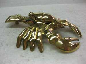 Details about New Brass Crawfish Shrimp Fish Decoy Trinket Tray Dish Box  Lobster Paper Weight