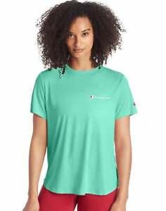 Champion Women's Tee T-Shirt Athletics Classic Script Logo Classic Short Sleeve