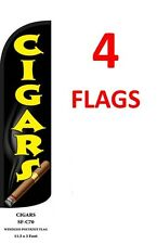 4 CHECKERED red//yellow 11.5 WINDLESS SWOOPER FLAGS BANNERS four