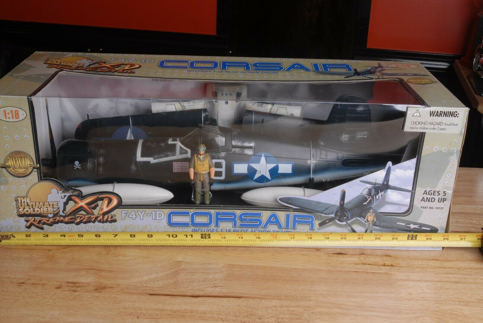 21 a århundradet Leksaker Den ultimata soldaten XD F4U-1D Corsair w Pilot Action Figur