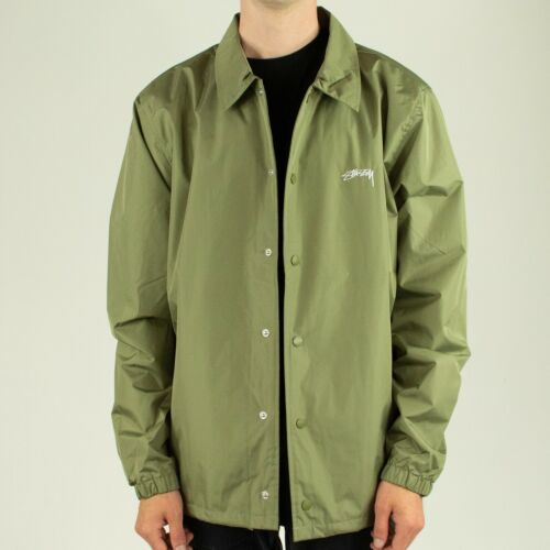Olive Green In Size M,L,XL Stussy Cruize Coaches Coach Jacket Coat