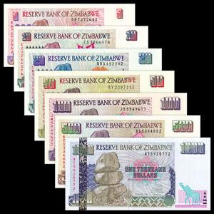 10 20 50 Dollars 2006 Zimbabwe SET UNC