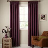 Johnlewis Lined Pencil Pleat Curtains Cotton Rib Cassis/purple 228x182cm 90x72