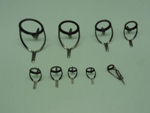 OEM SIC tmnlsg revêtement titane Spinning Rod 8 Guide Set #40 ~ 12 avec #12 Anneaux