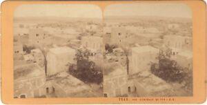Panorama Da Tyr Libano Stereo J.Andrieu Albumina c1870