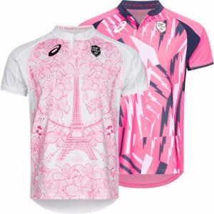 Stade Francais Paris ASICS Rugby Fan Herren Oberteil Trikot rosa 2111A068 neu