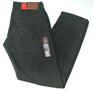 Men-039-s-Levi-039-s-502-Regular-Taper-Fit-Stretch-Charcoal-Gray-Jeans-295070055