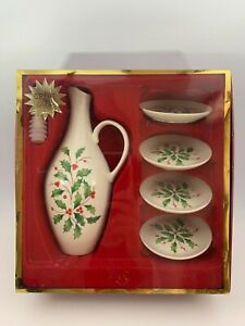 Lenox-Oil-Bottle-And-4-Dipping-Dishes-Set-New-Great-Gift
